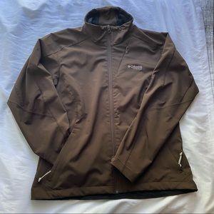 Columbia hood less jacket shell / windbreaker